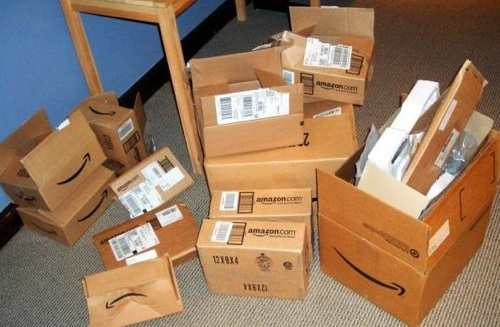 Amazon Prime Shipments, boxes