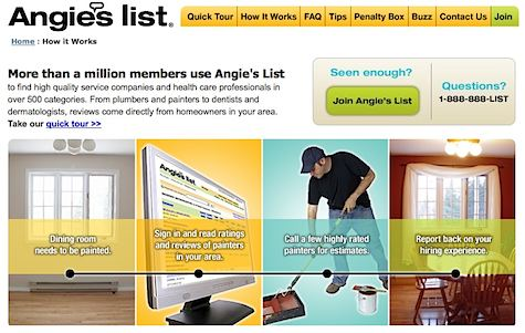 Angie's List, Craigslist, Yelp: Help Wanted for Products & Services