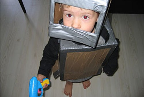 cheap toy: cardboard suit