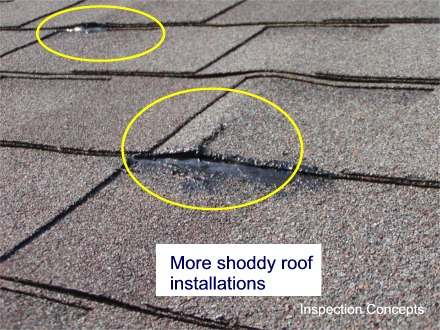 Bad roof installation
