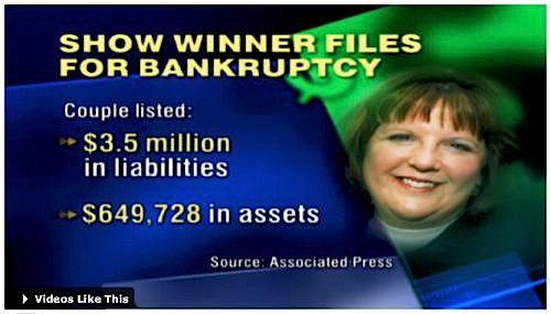 millionaire, winner, bankruptcy