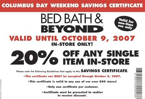 bed bath and beyond coupons never expire. Black Bedroom Furniture Sets. Home Design Ideas