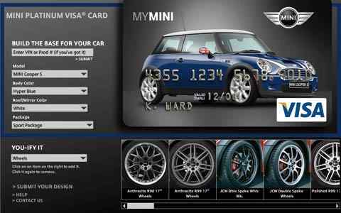 Mini Cooper Credit Card