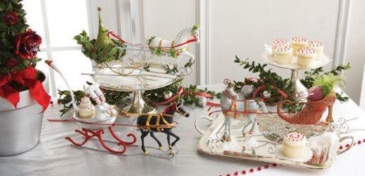 christmas decor, krinkles table