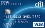 Citi ThankYou Preferred Rewards Card with $150 Gift Card