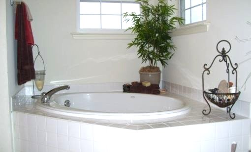 corner tub, bathroom renovation, home remodel