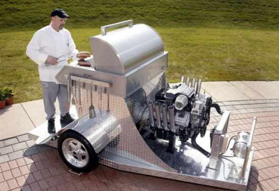 345 horsepower, 5.7-liter HEMI V-8 engine powered Barbeque