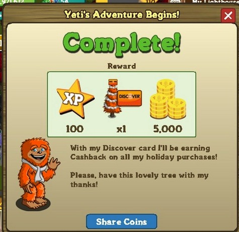 Discover & FarmVille Rewards