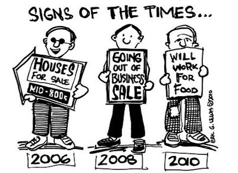 economic crisis - signs of the times