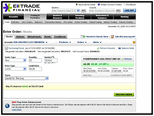Binary options trading etrade