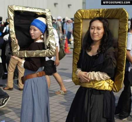 girl with a pearl earring, mona lisa costumes