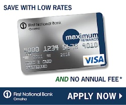 First national bank of omaha maximum rewards credit card review reheart Gallery