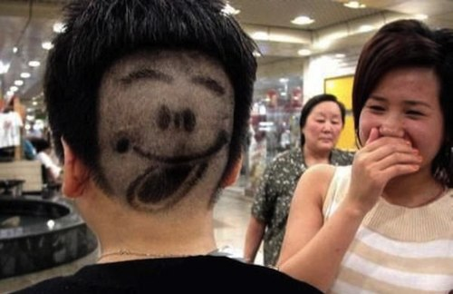 funny face haircut