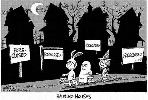 why halloween will suck this year, foreclosure