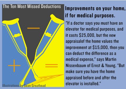 Overlooked tax deductions a photo essay for Tax deductions for home improvements
