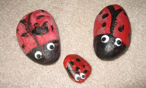 ladybugs, art project