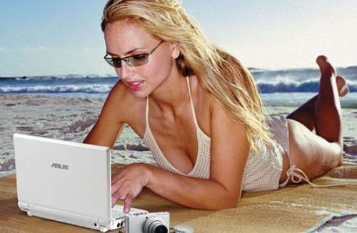 self-employment, money, laptop by beach
