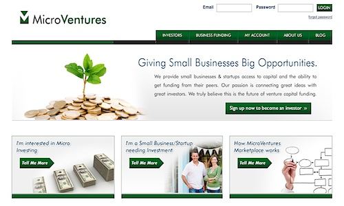 MicroVentures, peer to peer financing