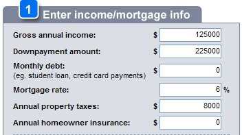 mortgage info