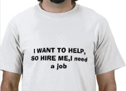 job search, need a job shirt