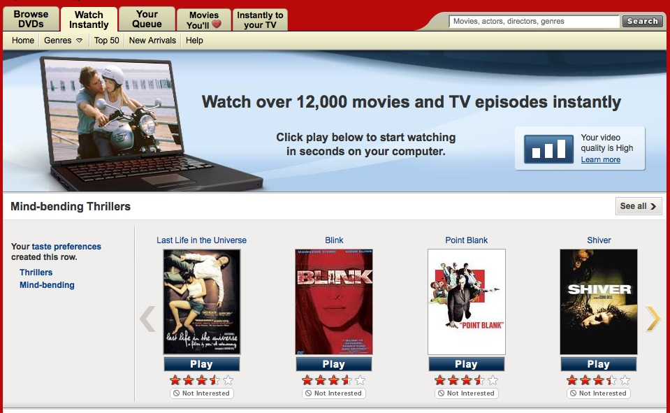 Netflix Review: Sign Up For An Online Movie Rental Service