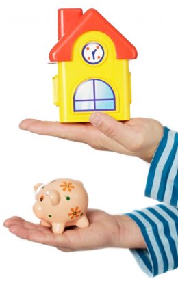 piggy bank vs house, mortage affordability