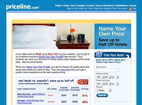 Priceline Name Your Own Price
