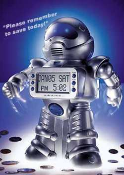 Sharper Image robot bank