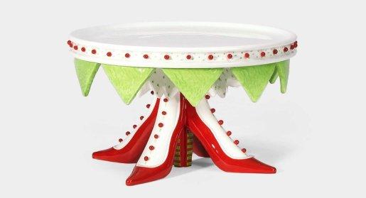 shoe cake plate, krinkles