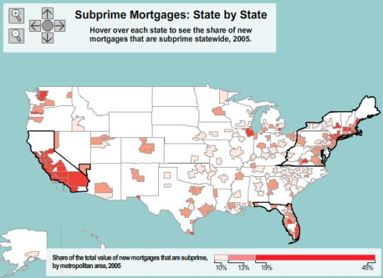 Subprime Mortgages: State By State