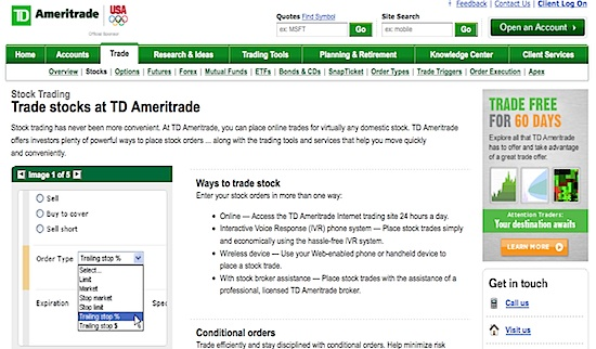 Trade options td waterhouse