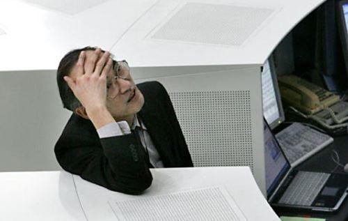 Tokyo stock exchange, stock market crash