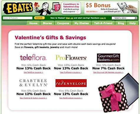 valentine's day gift ideas, ebates, cash back rewards
