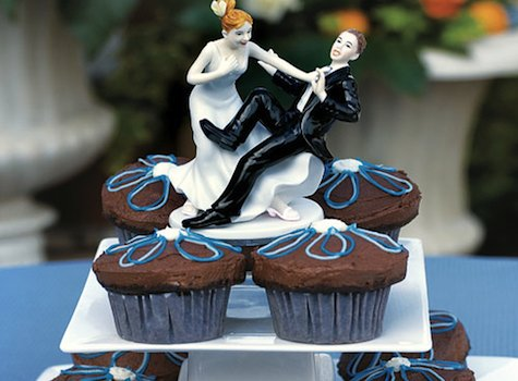 cool wedding cake topper