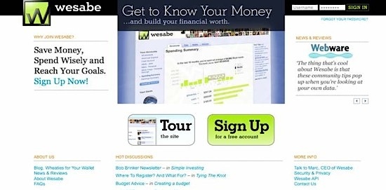 Wesabe, money tool, Web 2.0