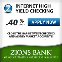 Zions Bank Internet High Yield Checking Account