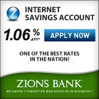 Zions Bank Internet Only Savings Account